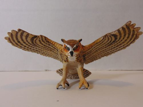 Safari-Ltd-264429-Great-Horned-Owl-Figurine-Replica-5-034-Wildlife-Bird-of-Prey