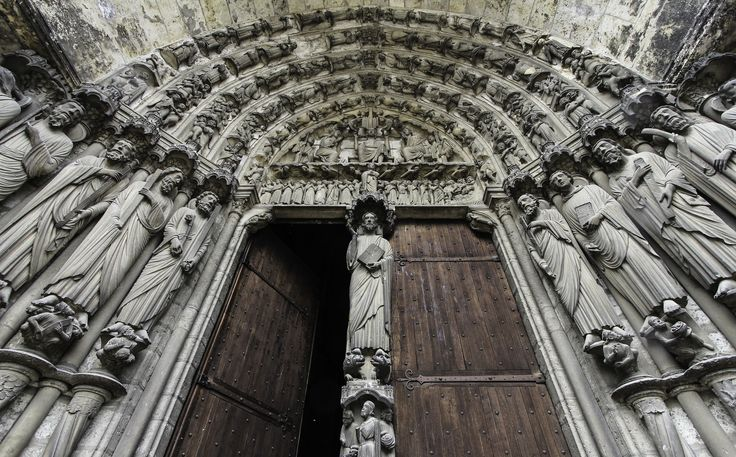 This is the south portal of Chartres Cathedral.