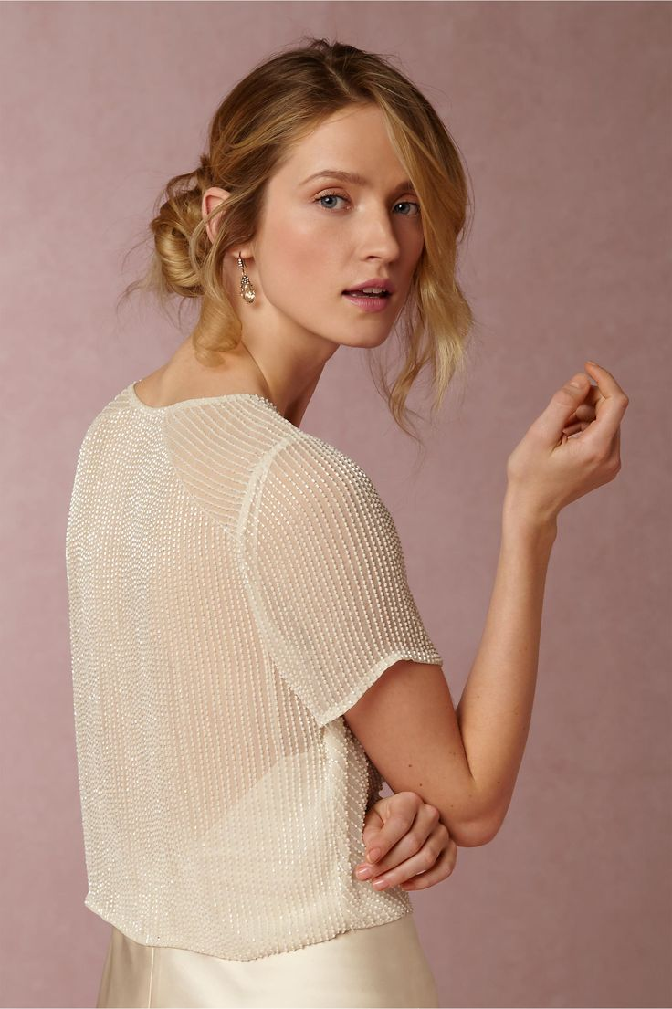 delicately sequined bridal cover-up | Winnie Jacket from BHLDN