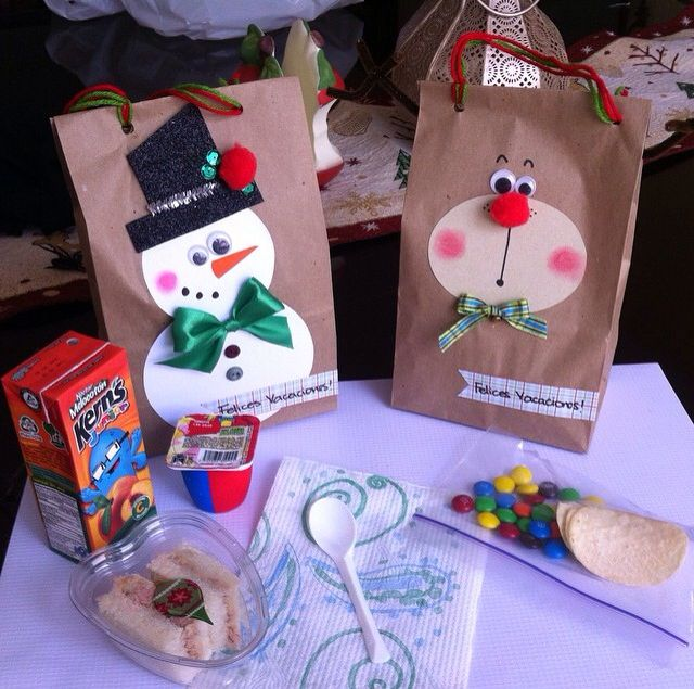 Christmas kraft bags / bolsas de papel navideñas / refacción infantil
