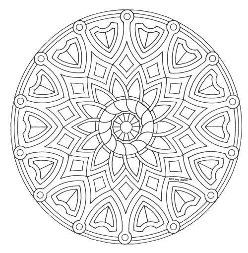 coloring pages mandala - Art Therapy Coloring Pages Mandala