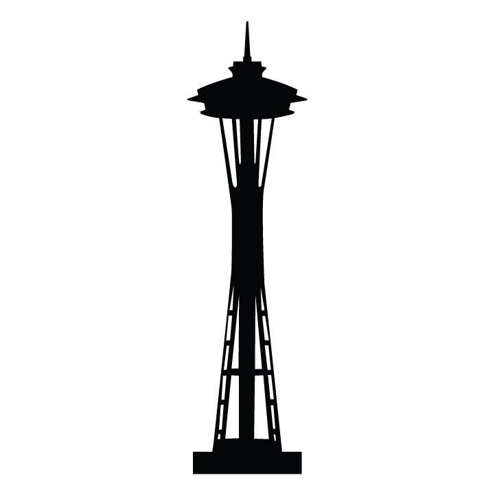 Seattle Space Needle Silhouette