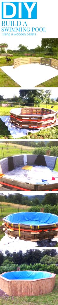 How To Make A Diy Pool From Wooden Pallets Diy Projects Pinterest Tes Pools And How To Make