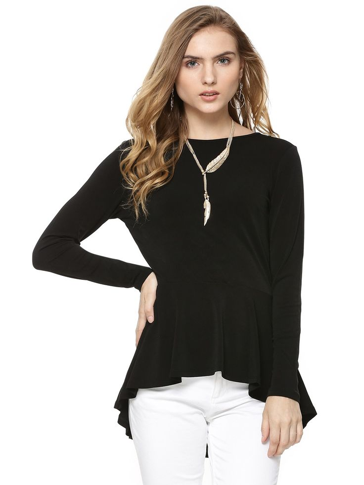 FOREVER NEW High Low Peplum Top