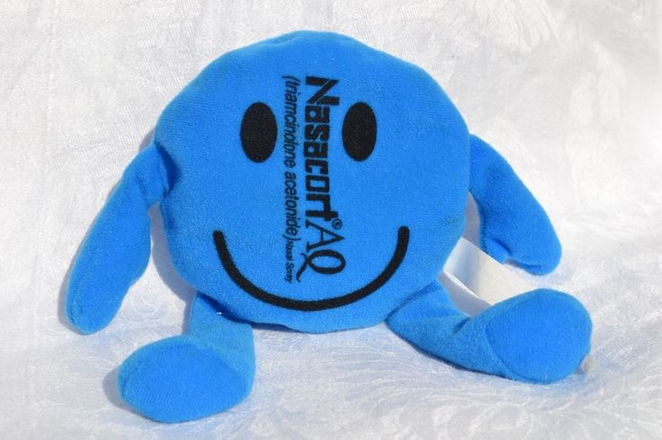 NASACORT AQ Drug promo advertising character toy beanbag plush - FREE SHIP