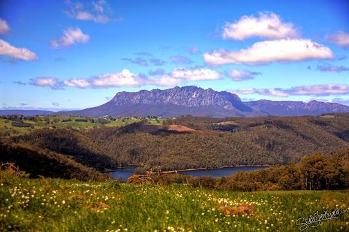 Mt Roland & Lake Barrington taken at the Lower Wilmot Lookout, but not at the Observation Deck.  #tasmania   #wilmot   #gimp   #debian   #ubuntu   #linux   #gnu   #rawtherapee   #hdr