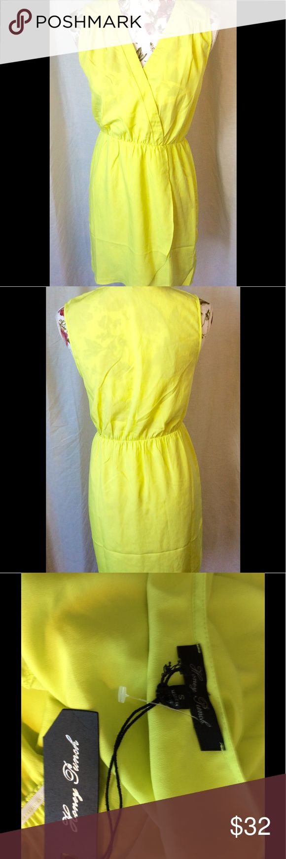 Honey Punch neon yellow dress sz S nwt HoneyPunch neon yellow dress sz S, nwt, pullover. Honey Punch Dresses