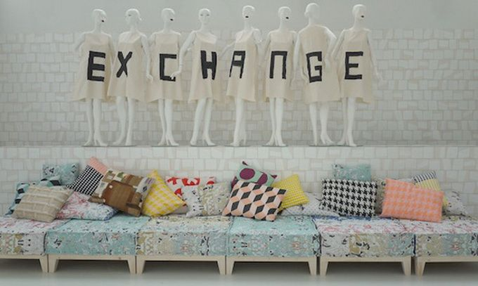 Hotel Exchange, Amsterdam.  Interiors of the hotel are designed by students of the Amsterdam Fashion Institute.