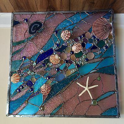 Stained-Glass-Window-Tropical-Starfish-Sea-Shell-Beach-Suncatcher-Sail-Panel