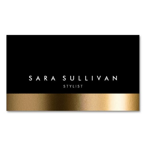 Stylist Bold Black Gold Business Card Business Cards. This great business card design is available for customization. All text style, colors, sizes can be modified to fit your needs. Just click the image to learn more!