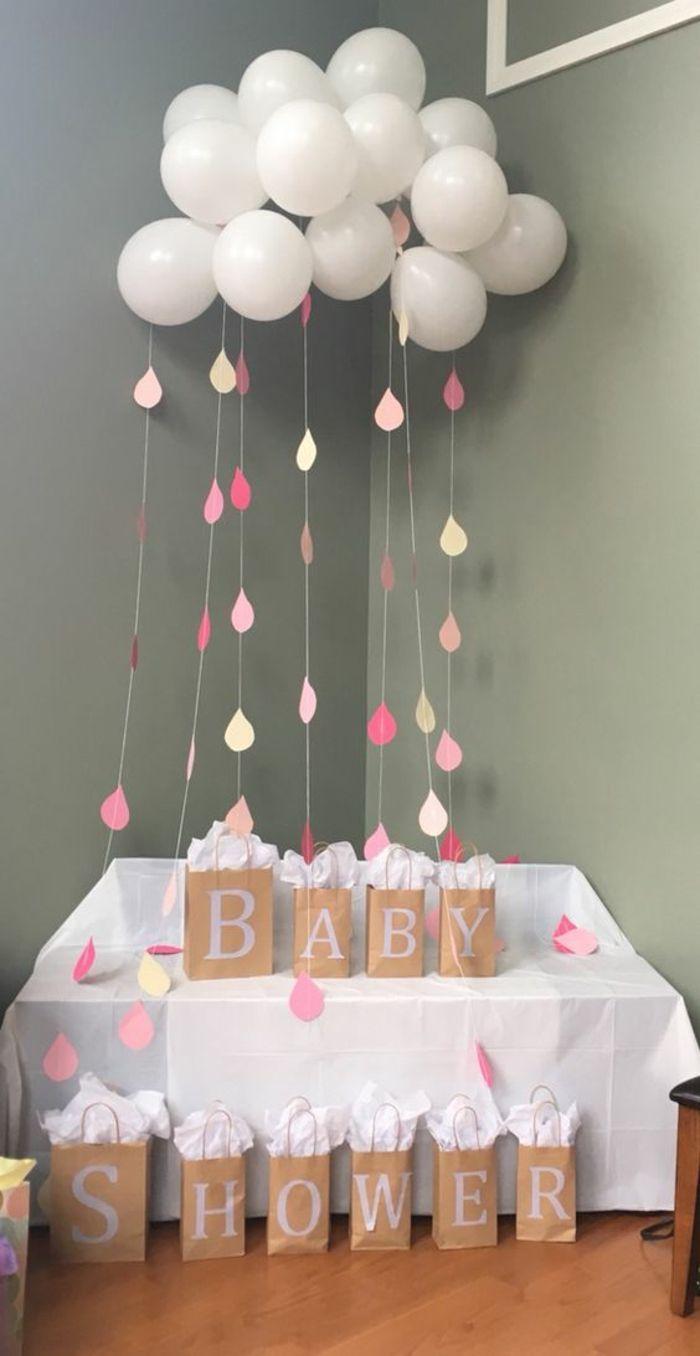 to make a balloon cloud, a creative DIY baby shower decoration and origina ... - #baby #ballons #creative #de #Decoration