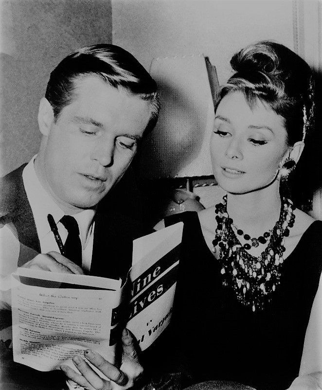George Peppard and Audrey Hepburn, Breakfast at Tiffany's, 61