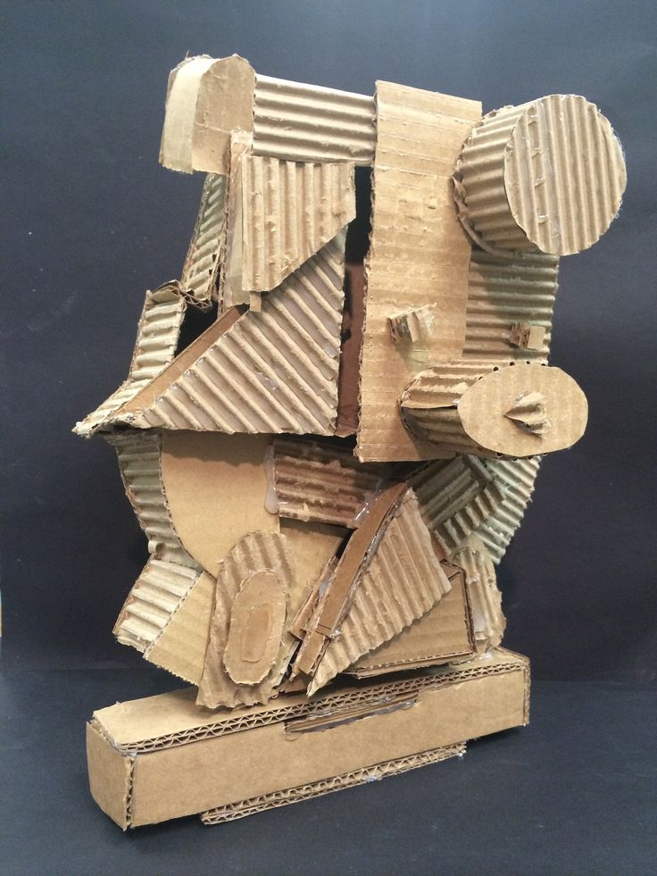 The smARTteacher Resource: Cardboard Cubist Sculptures