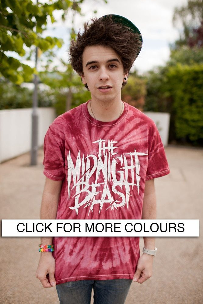 Stef from the Midnight Beast - Tie Dye band Tee, visit their page for more colours