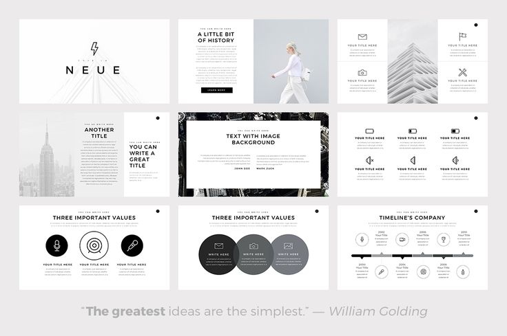 Neue Minimal Google Slides Template by SlidePro on @creativemarket
