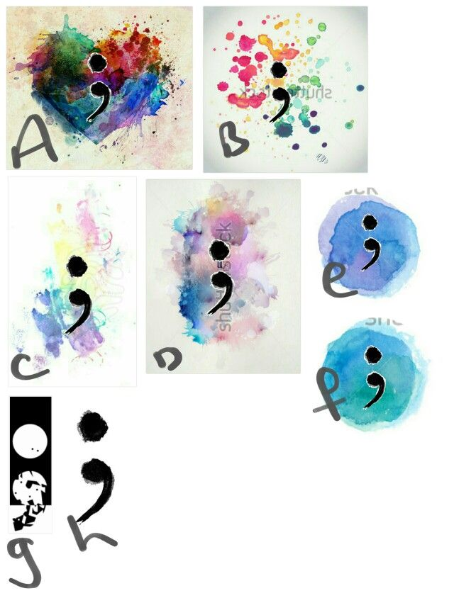 Semicolon tattoo ideas
