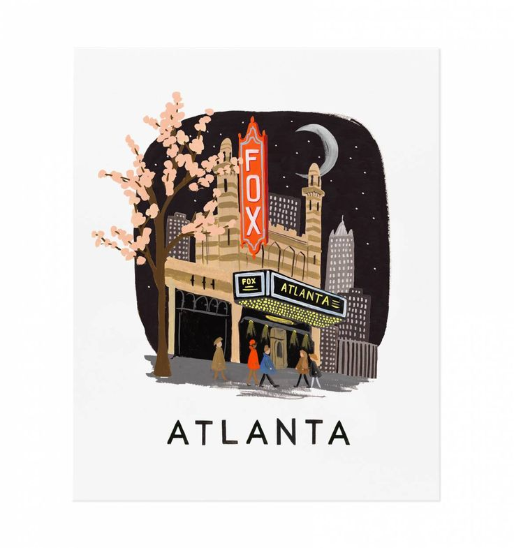 Atlanta Illustrated Art Print