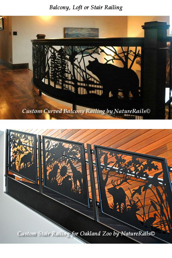 Custom designed stair or balcony railings for your home or business. What would you like in a railing? #stair #staircase #railings