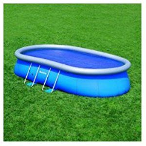 Bestway 58155 Solarabdeckplane für Oval Fast Set Pool, 549 x 366 x 122 cm