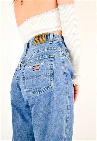 97fa15d9c2e1d VINTAGE 90S POLO RALPH LAUREN DENIM MOM JEANS | X SUMMER 19 | Jeans ...