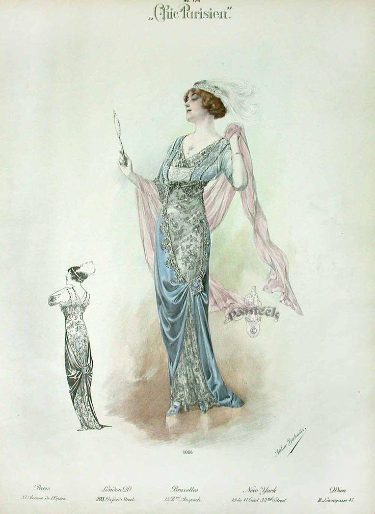 Chic Parisien Fashion Prints 1913