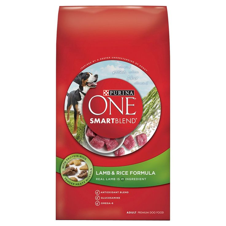 Purina One SmartBlend Lamb & Rice Formula Adult Premium Dry Dog Food - 16.5lb bag