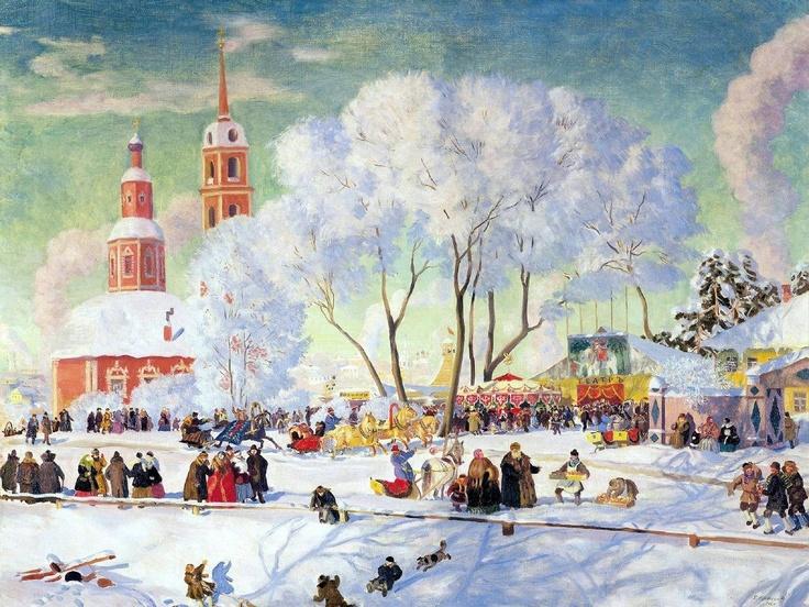 Boris Kustodiev. Maslenitsa. 1920 « Art and Faith