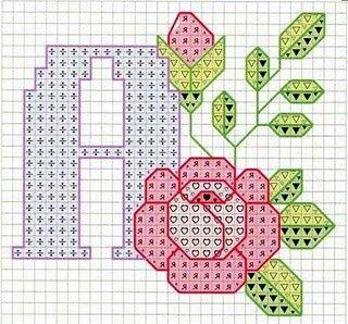 Letra A flores