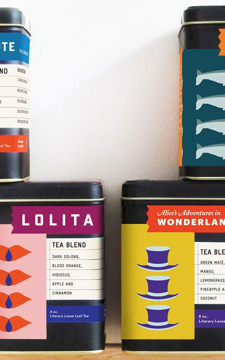 A wonderful project: Designer Flora Chan re-imagines literary classics as loose leaf teas, packaged in punchy graphics.
