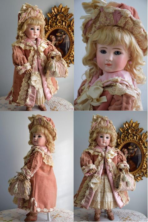 Fabulous French Bebe Steiner Figure A in Velvet Couture Costume with from doll-heaven on Ruby Lane