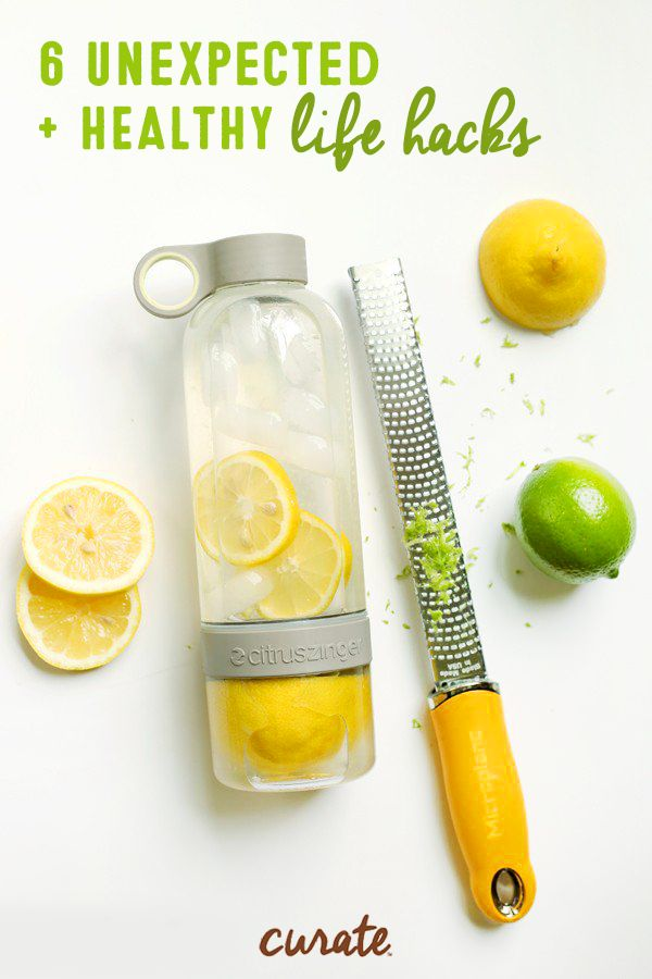 Trying to drink more water throughout the day? Here's a healthy living hack that will make getting your eight glasses per day less of a chore—add citrus! Inspired by the fresh flavor combinations of Curate snack bars, water becomes much tastier with the addition of sliced lemon and lime zest. Click for more summer snack hacks and be sure to munch on a Curate Harmonious bar while you sip on this healthy flavored water.