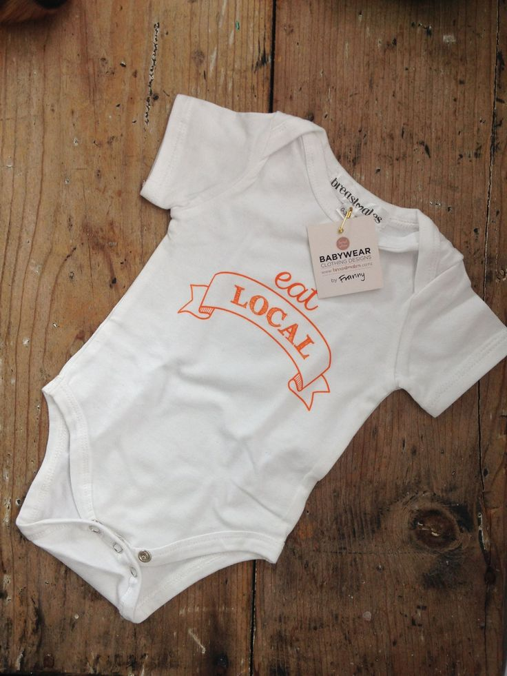 Look at this perfect onesie for our food baby! Picked it up from Breastmates, a fabulous local business smile emoticon #ilovelocal #eatlocal #shoplocal #baby