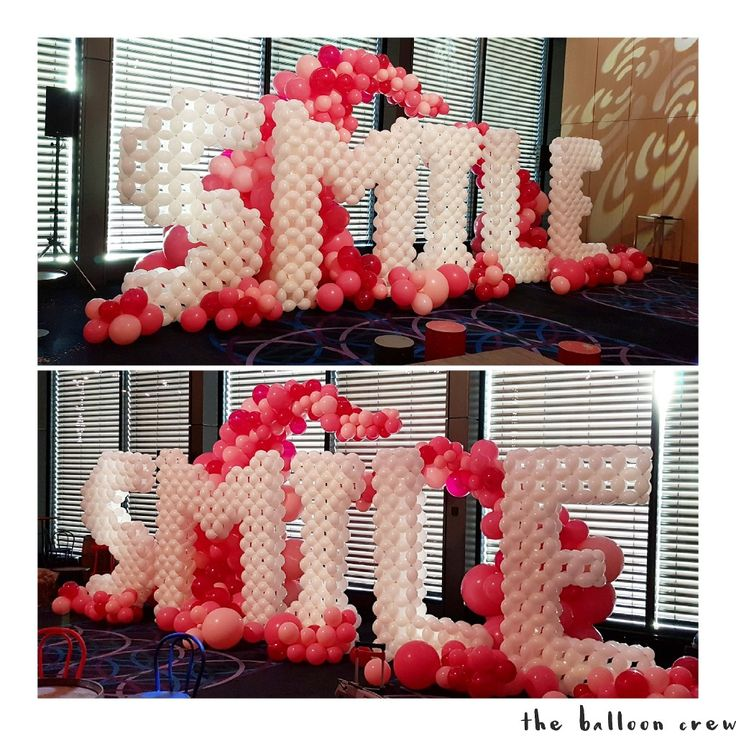 Giant 24m tall balloon letters made from