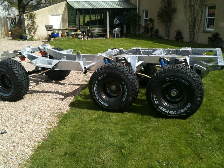 Custom Built Chassis With Double Drive Rear Axles