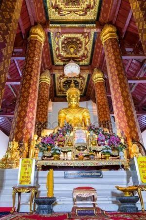 Ayuttaya Tailandia – 17 de octubre de 2014 Phra Puttha Nimit, estatua de Buddha de hermoso en capilla en el templo de Wat Na Phra hombres, en Tailandia. Foto de yongkiet Wat Na Phra Men, Wat Na Phra Meru, Phramane, Phra Main — Imagen de stock #137528006 ID de la foto:137528006 Copyright:yongkiet Información de la licencia: Únicamente para uso editorial. Está prohibido usar esta imagen con fines publicitarios o promocionales.
