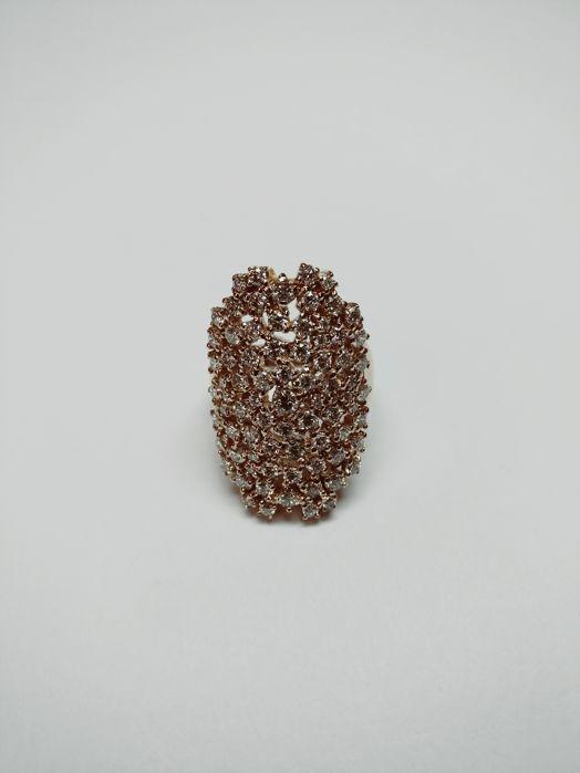 Prachtige 18 kt Molecole damesring met diamanten total 2.73 ct - grootte 55 / 17 mm  Nieuwe sieraden-AIG gecertificeerd-Cert geen J88764311BE-Roze goud 18 kt / 750 10.96 gram-Ring 20 x 30 x 22 mm-Brilliant cut diamonds 2.73 ct F - G / VS - SI AIG gecertificeerd-Resizing kostenloos-Zie certificaat en foto's voor meer details.  EUR 899.00  Meer informatie