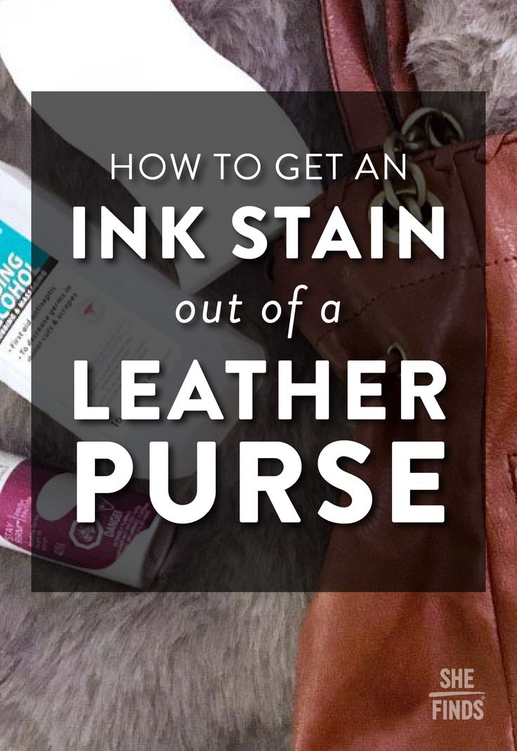 Can you remove ink stains on leather yourself?