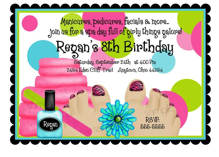 83 best images about Kawaii makeup party – Little Girl Spa Party Invitations