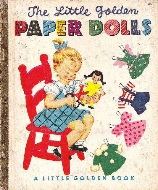 Little Golden Paper DollsDolls Book, Golden Paper, Paper Dolls Hilda Miloche, Little Golden Book, Book 1951, Childhood Book, Paperdolls, Children Book, Book Paper