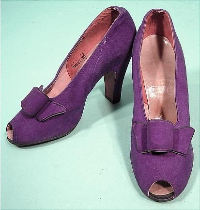Shoes 1940s Antique Dress Shoes