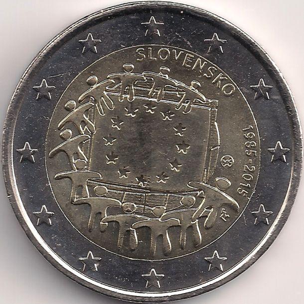 Motivseite: Münze-Europa-Mitteleuropa-Slowakei-Euro-2.00-2015-Europaflagge