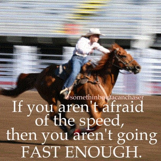 you aren't going fast enough! True... I do games on my horse.... And I am afraid of the speed!
