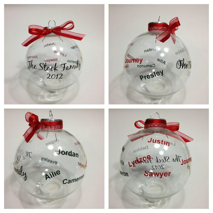 17 best family Christmas ornaments images on Pinterest