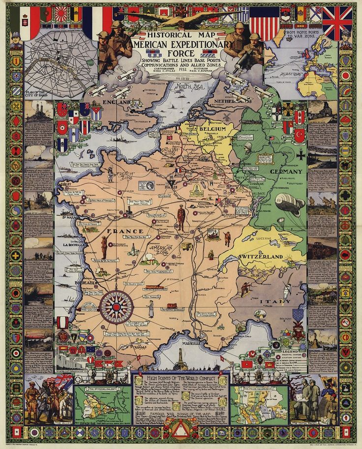 Detroit In World Map%0A World War I Map of the Expeditionary Force        Map courtesy of The Big