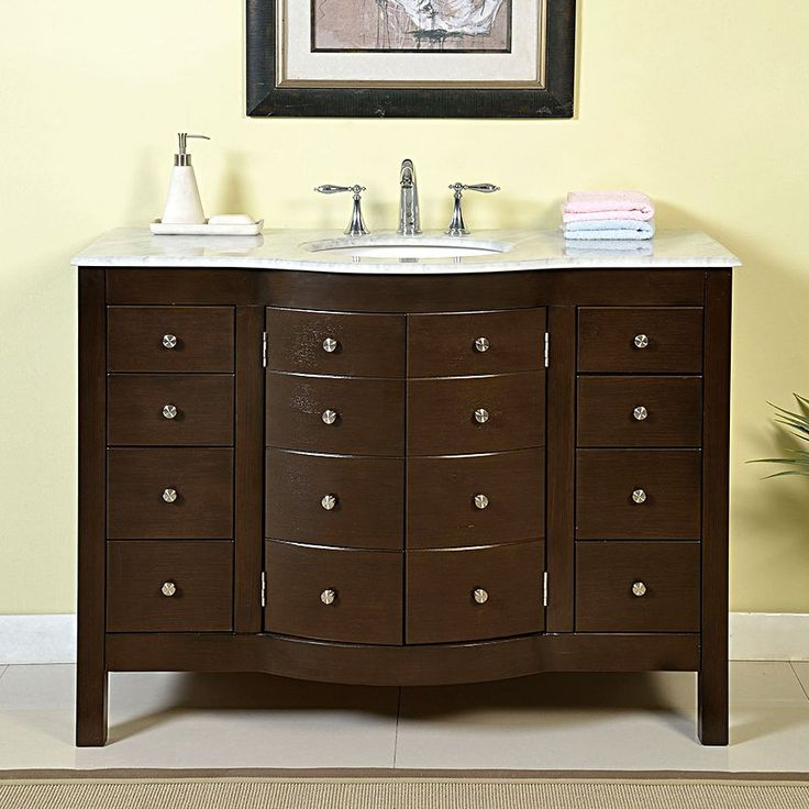 Shop Silkroad Exclusive  JB-0274-WM-UWC-48 48-in Prima Bathroom Vanity Single Sink Cabinet at ATG Stores. Browse our bathroom vanities, all with free shipping and best price guaranteed.