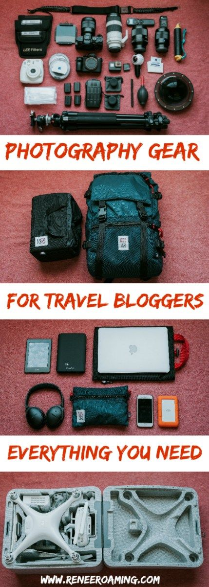 Travel photography and blogging gear - everything you need to get the perfect Instagram worthy photo and professional images. www.reneeroaming.com