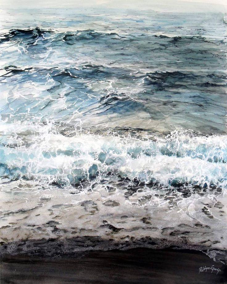 Акварельные картинки море, поздравления рождением сына