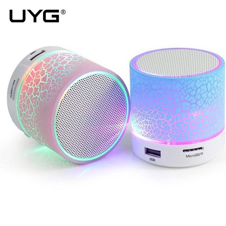 A9 Speakers LED Mini Bluetooth Wireless Speaker USB Player With TF USB FM Blutooth Music For Mobile Phone iPhone 6 Laptop Car