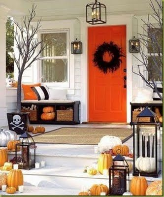 front porch decorating ideas from around the country home front porch decorating ideas ci woolrich_sofa and rocker - Halloween Front Porch Decorating Ideas