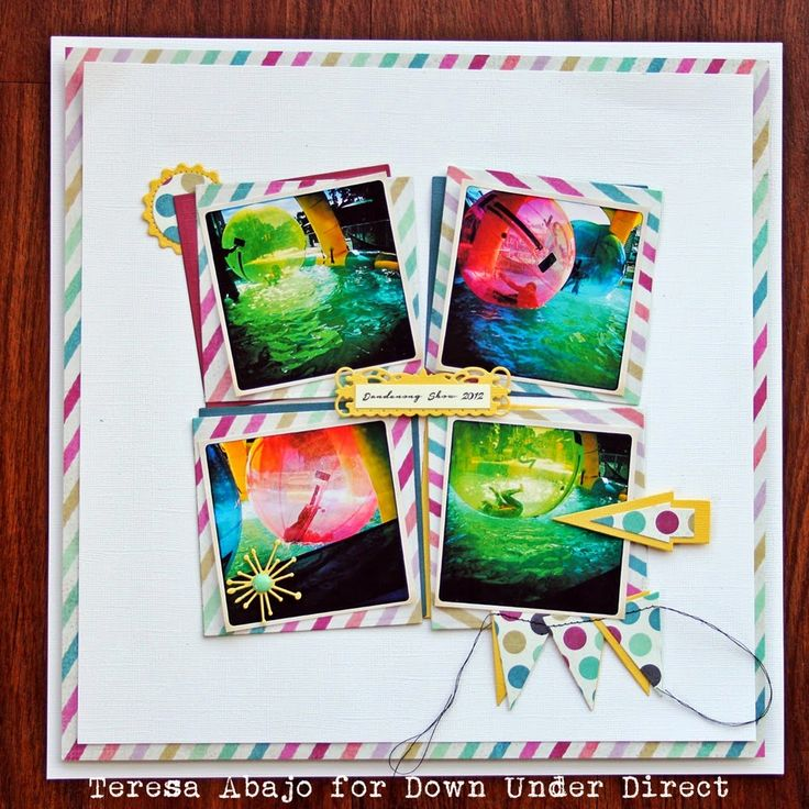 Great balls of fun! A layout made with Spellbinders dies.